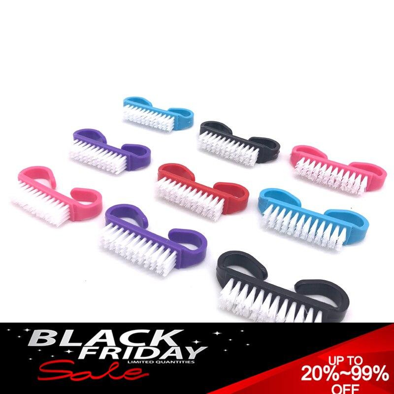 200 X Washing Brush Nail Art UV Gel Dust Powder Clean Brush Manicure Pedicure Tool Nail Care Accessories Small Angle Nail Brush