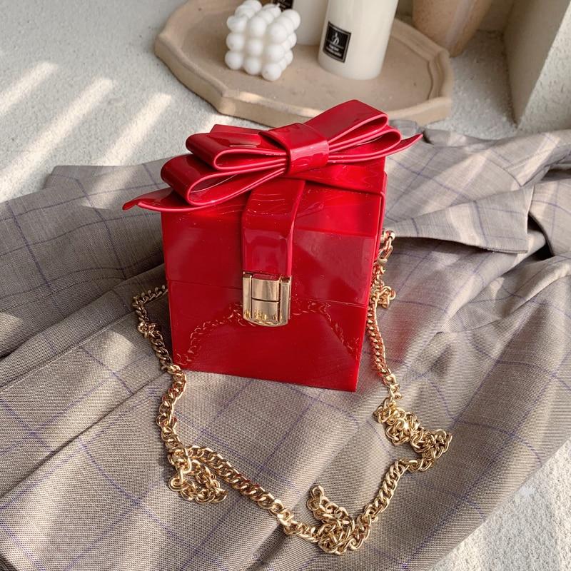 Elegant Female Mini Box Bag Candy Crossbody Bag 2019 New Quality Leather Women's Designer Handbag Chain Shoulder Messenger Bag