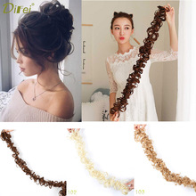 DIFEI волосы высокой температуры синтетические кудрявые шиньон Резиновая лента обертывание конский хвост удлиненные волосы круг шиньон для женщин волосы штук