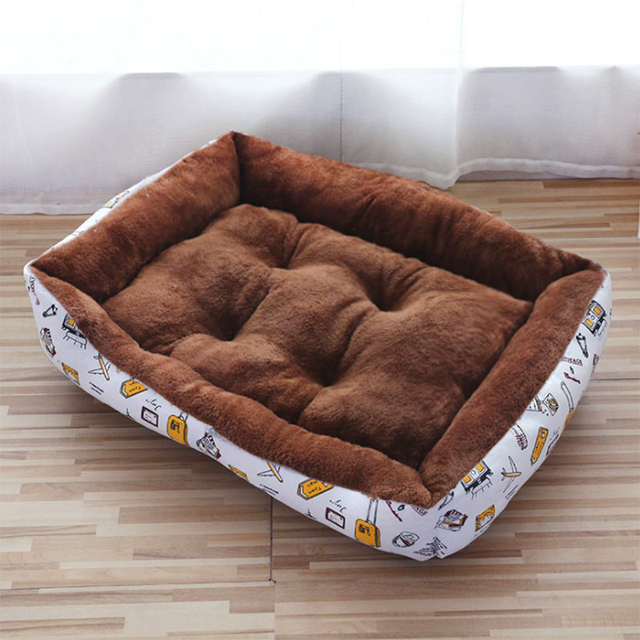 new Pet Cat dog Bed Warm Pet Products For Small Medium Large Dog Soft For Dogs Washable House For Cat Puppy Cotton Kennel Mat 4