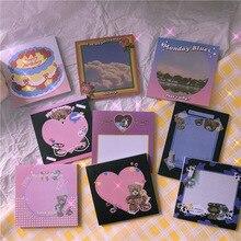 Stationery Notepad Papeleria Gift Plush Sticky-Notes Cartoon School Times Bear Memo-Pad