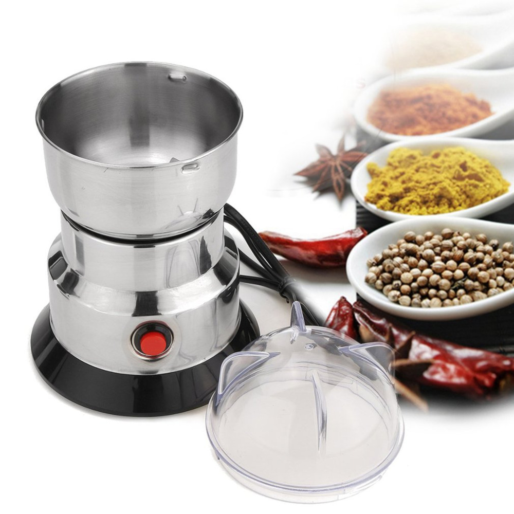 M/áquina de caf/é el/éctrica de acero inoxidable 150W 300ml Mezcladoras de molinillo de frijol para cocina Oficina de uso dom/éstico M/áquina de molienda de granos