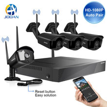 Video Surveillance Kit 4CH Nirkabel Sistem CCTV 1080P 1TB 4 Pcs 2MP NVR IP IR-CUT Kamera CCTV Outdoor suara IP Sistem Keamanan(China)