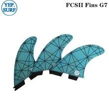 цена на Surf FCS2 Fins G7 Light Blue FCS II Tri fin set Fiberglass upsurf new design