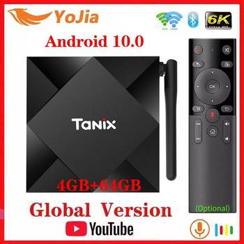 Android 10.0 TV Box Android 10 Allwinner H616 Tanix TX6S Max 4GB RAM 64GB ROM QuadCore 6K Dual Wifi TX6 Media Player Youtube
