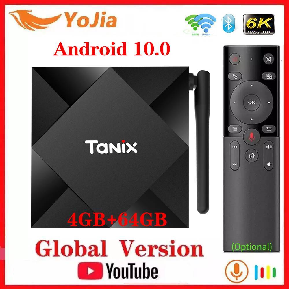 Android 10 0 TV Box Android 10 Allwinner H616 Tanix TX6S Max 4GB RAM 64GB ROM QuadCore 6K Dual Wifi TX6 Media Player Youtube