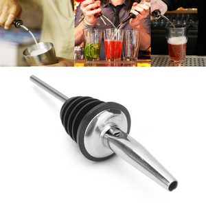 Stainless Steel Whisky Liquor Oil Wine Bottle Pourer Cap Spout Stopper Mouth Dispenser Bartender Kitchen Tools Bar Accessories