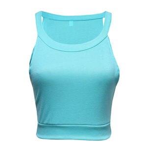 Image 3 - Las mujeres buscadas recortan las tapas ocasionales del chaleco de la playa del verano camiseta sin mangas las tapas del verano de la ropa de la calle ropa de mujer 2019