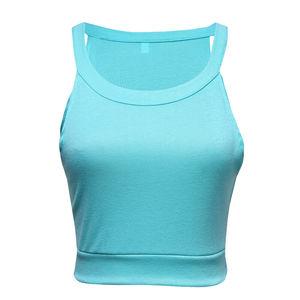 Image 3 - Sought After Women Crop Tops Casual Summer Beach Vest T Shirt Sleeveless Tank tops Streetwear Summer Tops Women Clothes 2019