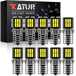 10x T10 Canbus W5W LED 168 192 Car License Plate Light For Hyundai Sonata Elantra i30 ix35 i20 iX45 iX25 Verna Sonata Tucson