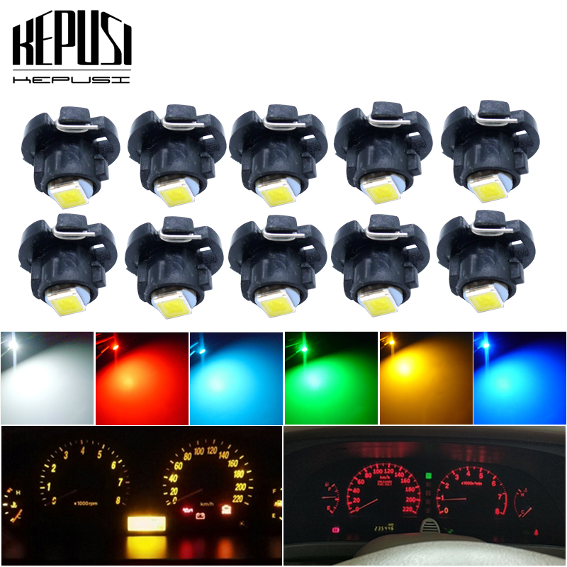 10PCS T4.2 LED Light Dashboard Instrument Bulb lamp 12V Neo Wedge White/Blue/Ice Blue/Red/Yellow/Green For Honda Accord image