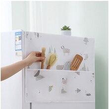 Nordic милые животные холодильник ткань с одной дверью пылезащитный чехол для холодильника пастырской набор гайковерта с двойным открытым По...