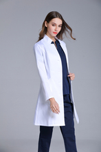 New women's Stand Collar anti-wrinkle long sleeve lab uniform dental clinic doctor's outcoat slim fit white color free ship