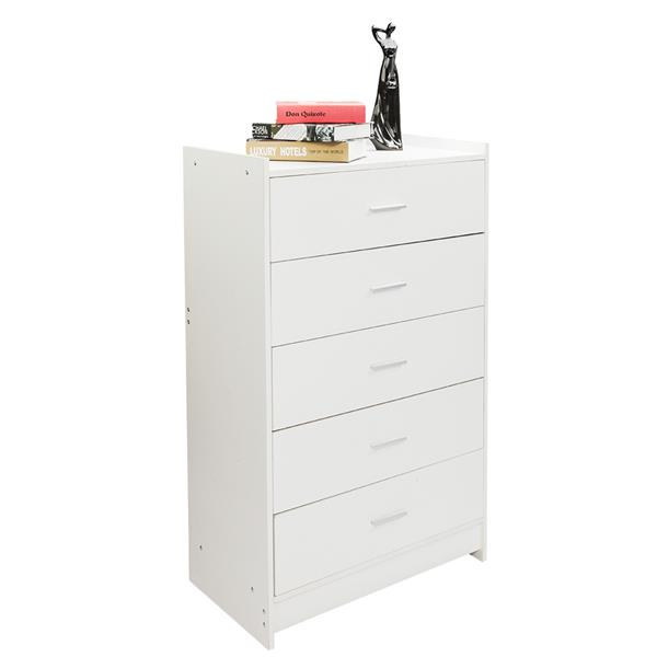 Multiple Finish 5 Drawer Night Stand