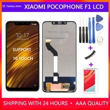 Ekran değiştirme Xiaomi Pocophone F1 lcd ekran ve dokunmatik ekran digitizer çerçeve meclisi için POCO F1 2246*1080 piksel