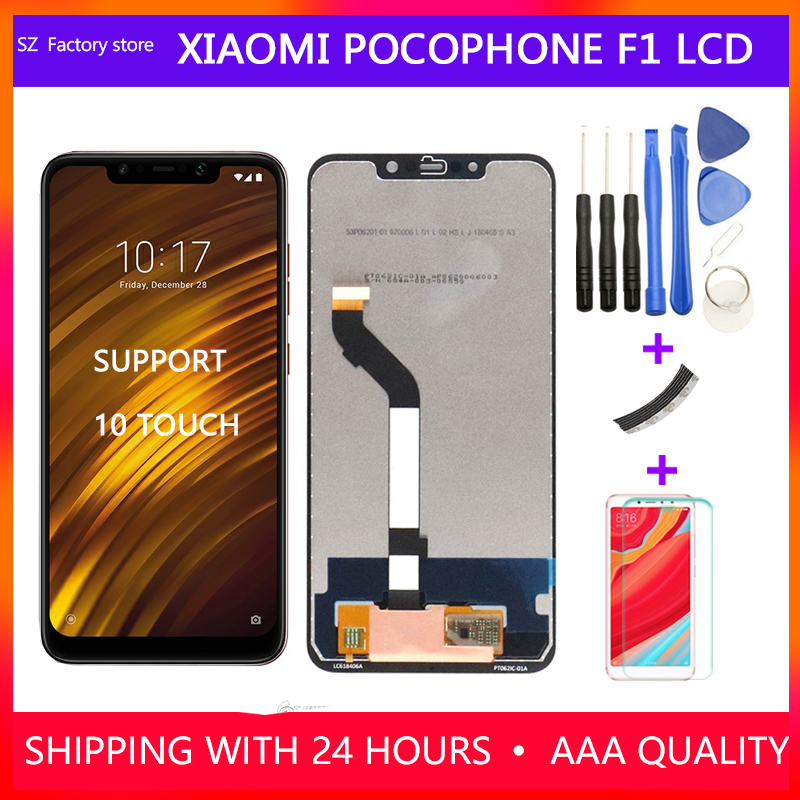 Screen Replacement For Xiaomi Pocophone F1 LCD Display & Touch Screen Digitizer Frame Assembly Set For POCO F1 2246*1080 Pixels