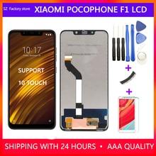 交換 Xiaomi Pocophone F1 Lcd ディスプレイ & タッチスクリーンデジタイザフレームアセンブリセットポコため F1 2246*1080 ピクセル