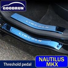 Наклейка на порог двери автомобиля для lincoln nautilus mkx
