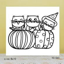 ZhuoAng Three cats Clear Stamps For DIY Scrapbooking/Card Making Decorative Silicon Stamp Crafts