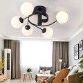 Промышленный Железный потолочный светильник  светильник для гостиной  скандинавский 220V E27 светодиодный светильник