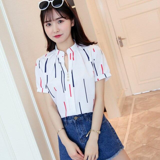Korean Fashion Chiffon Women Shirts Office Lady Women Blouses Plus Size Womens Tops and Blouses Ladies Tops Femininas Elegante 5