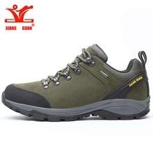 XIANG GUAN Men Trekking Sneakers Male Hiking Shoes Waterproo