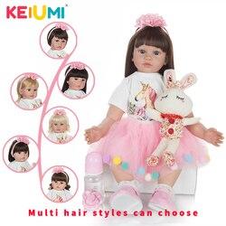 KEIUMI 60 cm moda lalka księżniczka ręcznie robione złoto loki peleryna fryzjerska ciało nadziewane Reborn laleczka bobas zabawki na sprzedaż hurtowa prezent urodzinowy