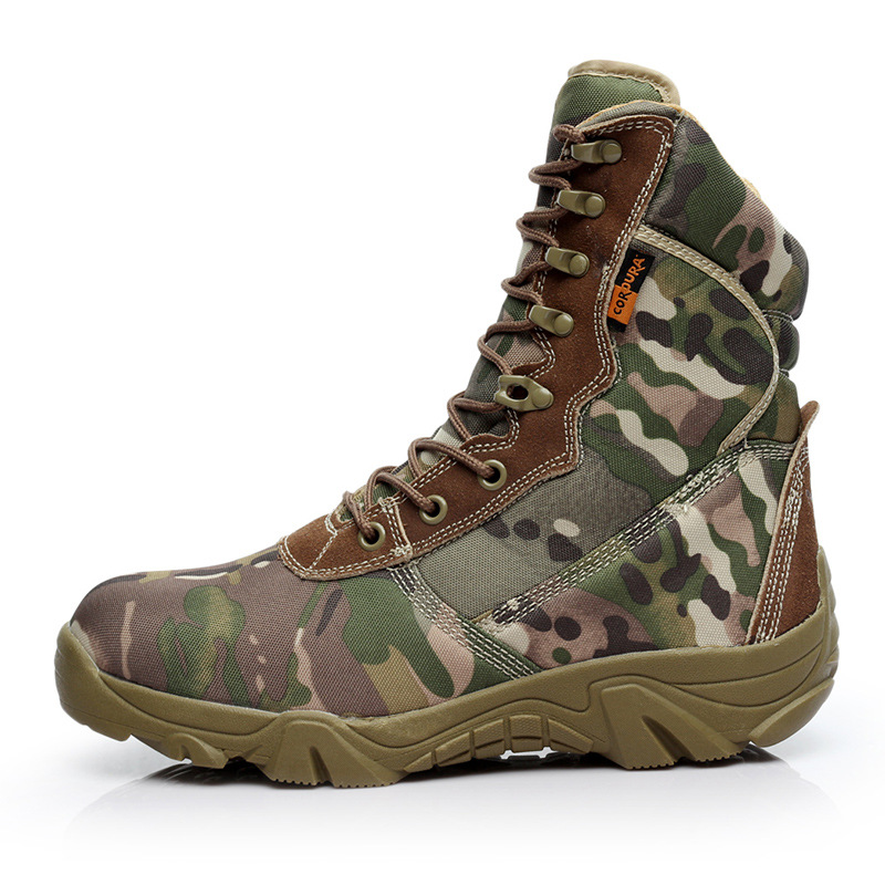 A Generation Of Fat New Style Camouflage Shoes Delta Tactical Boots Outdoor Hight-top Hiking Boots Winter Desert Boots