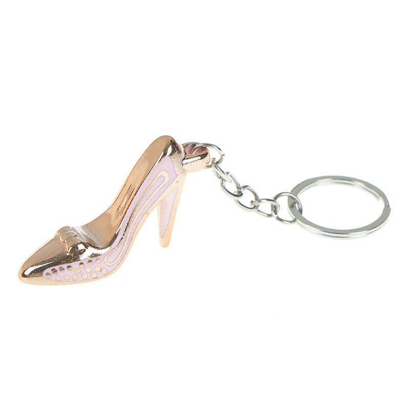 1 Pc תינוק יום הולדת מתנה לטובת סימולציה עקב נעלי מפתח שרשרת סגסוגת תיק ארנק נייד תיק מפתח טבעת אקראי צבע