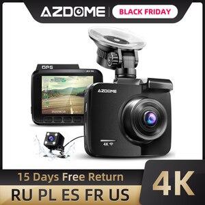 Image 1 - AZDOME GS63H רכב דאש מצלמת 4K HD דאש מצלמה 170 תואר זווית תצוגה רחבה עם GPS WiFi G חיישן לולאה הקלטת חניה ניטור
