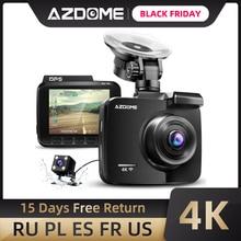 AZDOME GS63H Xe Dash Cam 4K HD Dash Camera 170 Độ Góc Nhìn Rộng Có Định Vị GPS WiFi G cảm Biến Ghi Hình Vòng Lặp Đậu Xe Giám Sát
