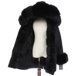Image 4 - OFTBUY 2020 wodoodporna odzież wierzchnia prawdziwe futro długa kurtka zimowa Parka kobiety naturalne futro lisa kaptur Streetwear odpinany marka