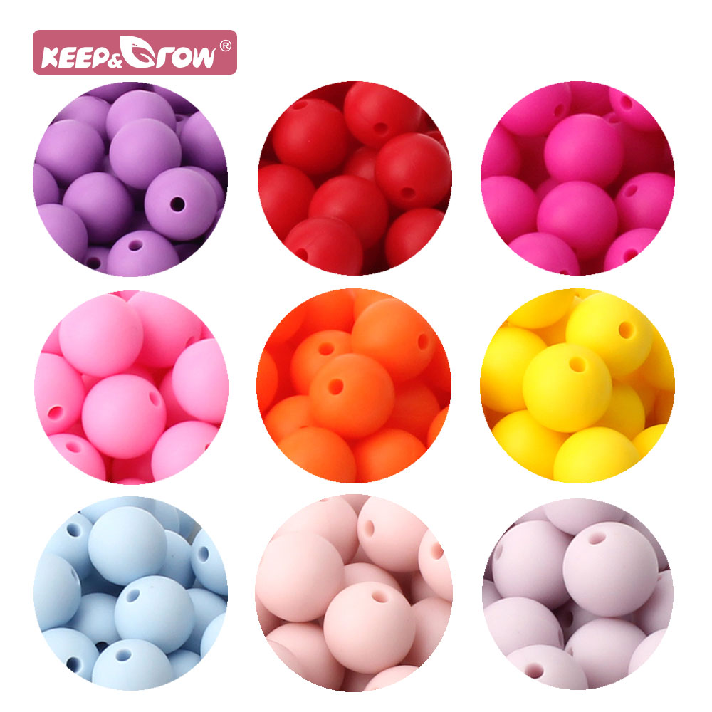 Chain Jewelry Pacifier-Clip Ball Rodent-Product-Beads Silicone Beads Pearl Food-Grade