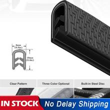Universal 5M Car Door Anti Collision Strip with Steel Disc Bumper Trim Edge Scratch Protector Strip Sealing Guard Decora Styling