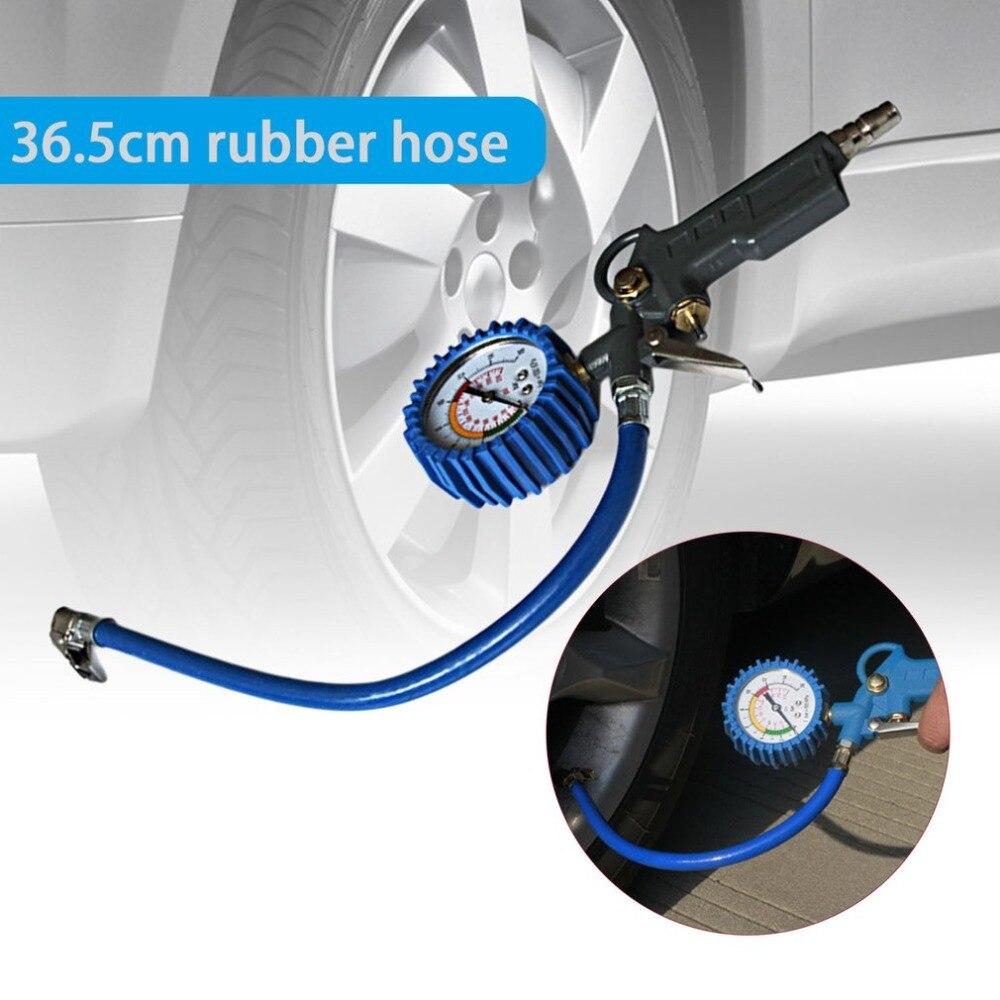 Multi-functional Car Truck Air Tire Pressure Inflator Gauge Dial Meter Vehicle Tester Tyre Inflation Gun Monitoring Tool