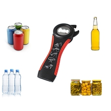 цена на 5 in 1 Multi function Stainless Steel plastic Can jar bottle open can Opener Ring Bottle Opener