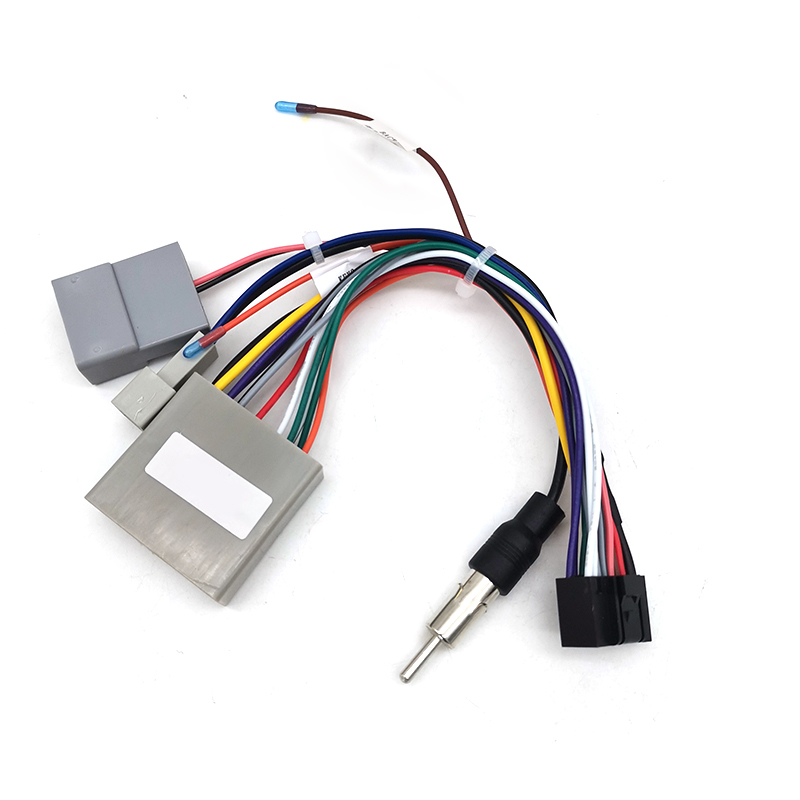 16Pin Android Car Multimedia Player Wiring Harness Connector with Radio Antenna Adapter For Honda Civic CRV 2006~2009