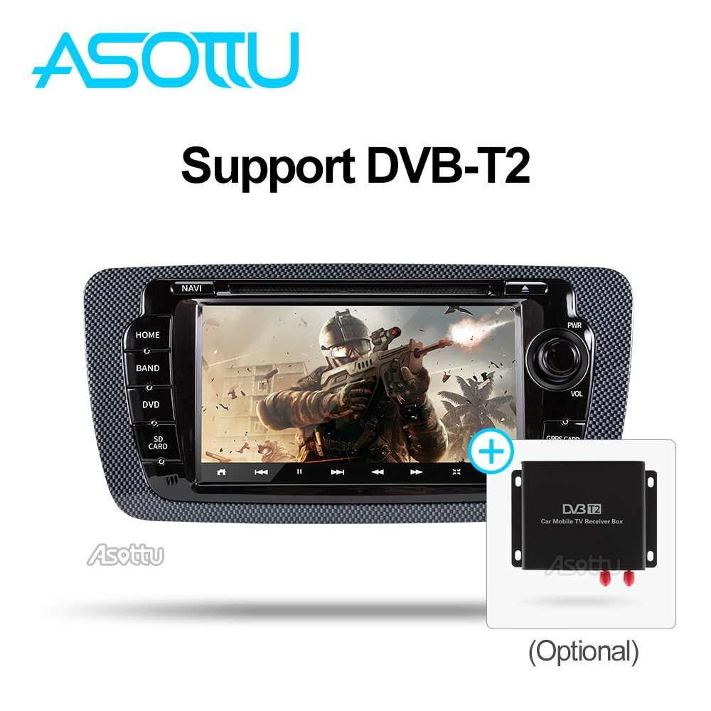 Asottu android 9.0 T8 SAMOCHODOWY ODTWARZACZ DVD dla Seat Ibiza 6j 2009 2010 2012 2013 radia z nawigacją gps