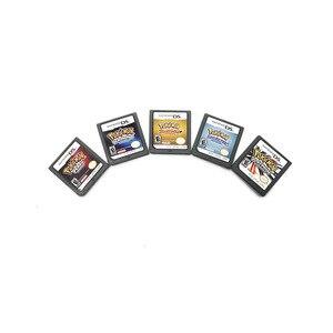 Серия Pokemon, алмазная, Золотая жемчужина, платина, SoulSilver DS, игровой Картридж для Nintendo, консоль, карта на английском языке для DS 3DS 2DS NDS