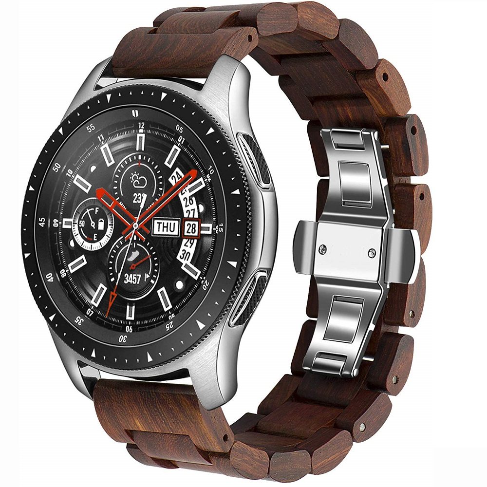 20mm 22mm Pulseira For Samsung Galaxy watch active 2/Gear S3 frontier/amazfit bip watch band Wood Strap 46mm 42mm Bracelet belt
