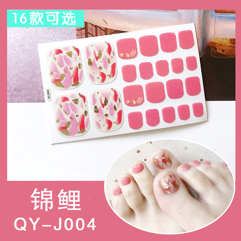 Europe And America Big Brand-Style INS Footsticker Nail Stickers Nail Sticker Stick Completely Waterproof Long-lasting 3D Toenai