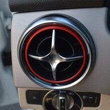 Автомобиль AC Вентиляционное кольцо наклейка для Mercedes benz SLK SLC R172 SLK200 SLK250 SLK350 GLK X205 Кондиционер Выход Декоративное Покрытие