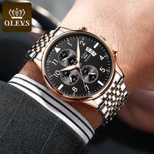 Business Chronograph Watch Men Top Brand Luxury Stainless St