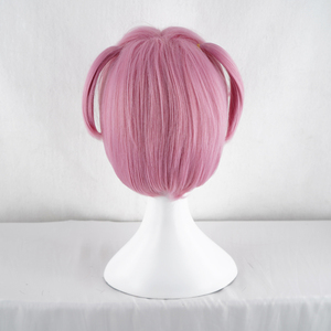 Image 5 - Doki Doki Literature Club Natsuki Pink Short Costume Women Heat Resistant Synthetic Hair Party Cosplay Wigs+Free Wig Cap