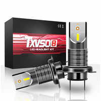 TXVSO8 H7 LED H11 voiture ampoules CSP puces 30000LM 6000K Bombilla LED brouillard phare Ampoule 55W Automotivo Ampoule 12V 9006 lampe