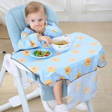 Anti-dirty Baby Long Sleeve Bibs All-in-on Baby Bib Coverall With Table Cloth Dining Table Cushion Chair Baby Gown feeding