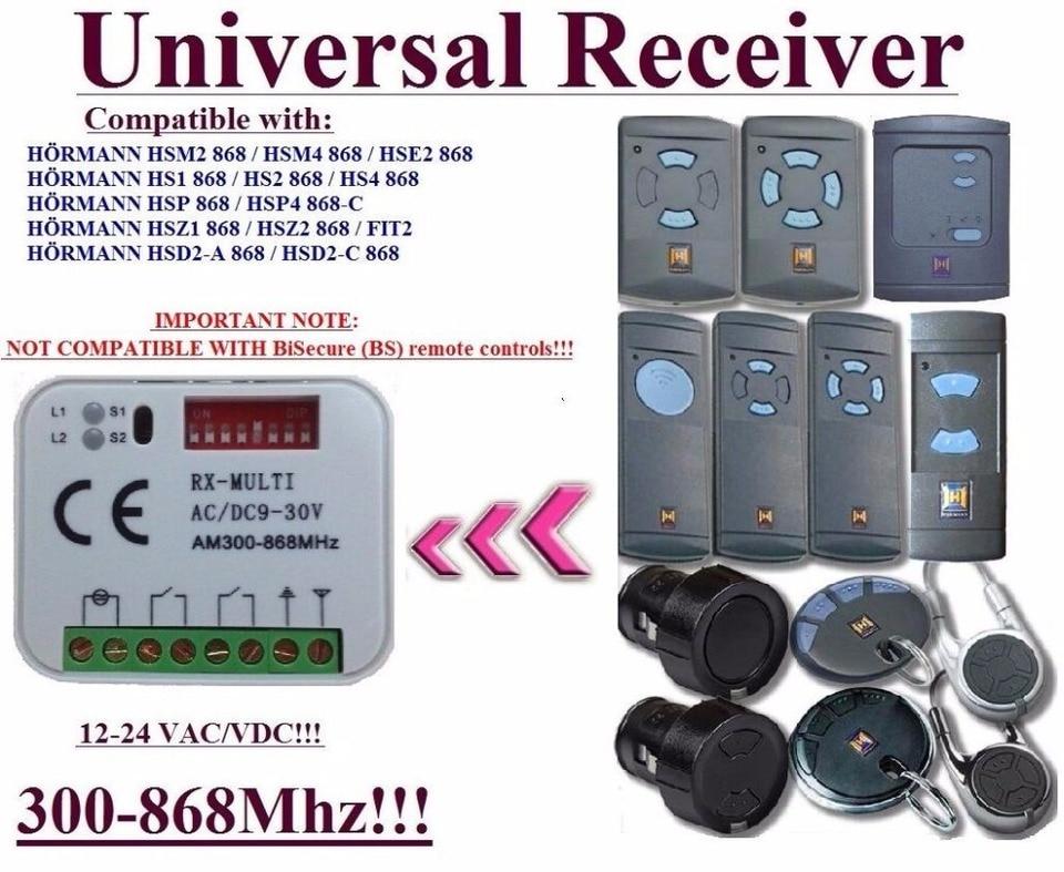 Radio Receiver Compatible For Hormann HSM2 HSM4 HS1 HS2 HS4 HSP4 HSS2 HSS4