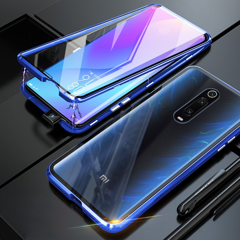 Hard Case for Xiaomi Mi 9T Pro Case Metal Magnetic 360 Full Dual Tempered Glass Back Hard Cover On For Xiaomi Mi9T 9 T Case image