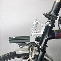 Luce anteriore per bici per lampada per bicicletta Brompton con supporto ricarica USB