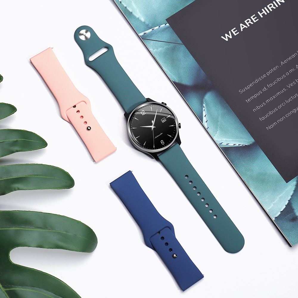 Sport Band For Samsung Galaxy Watch 46mm 42mm Gear S2 S3 Frontier Silicone Wristband For Hauwei For Amazfit Bip Strap 20mm 22mm